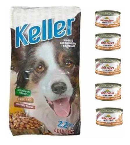 Keller 22kg+ 5 Latas De Pate+ +envios