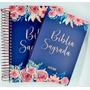 Kit Bíblia Anote Espiral E Bíblia Nvi Flores Feminina