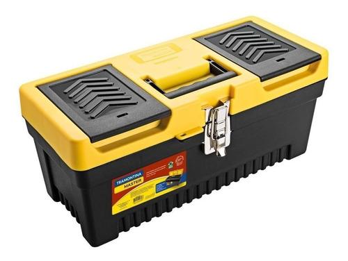 Caixa De Ferramentas Tramontina 43803017 De Plástico 19cm X 43cm X 19cm Preta/amarela