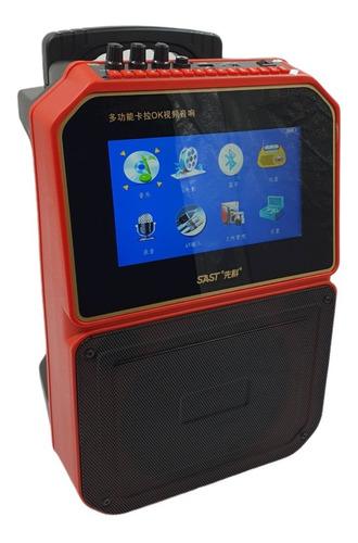 Caixa De Som Bluetooth E Usb Com Tela Integrada