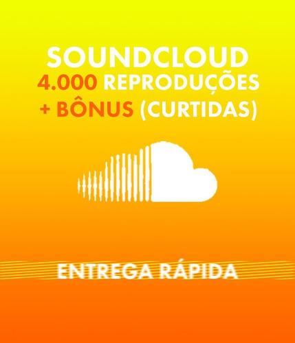 Soundcloud 4.000 Plays + Bônus (likes)