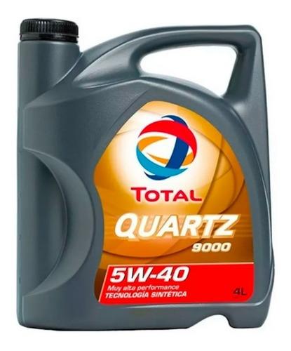 Aceite 5w40 Sintetico Total Quartz 9000 Api 4 Lt