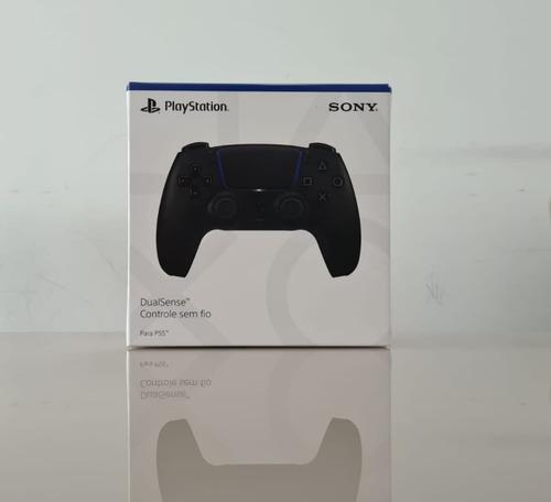 Controle Sony Ps5 Dual Sense Preto Meia Noite Novo Lacrado