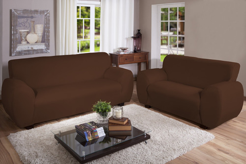 Kit Capa Para Sofa 2 E 3 Lugares Malha Gel