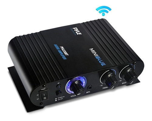 Pyle Mini Amplificador Potencia Pfa330bt Bluetooth Mic 90w