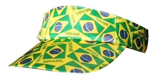 Viseira/boné Torcedor Brasil Copa Do Mundo