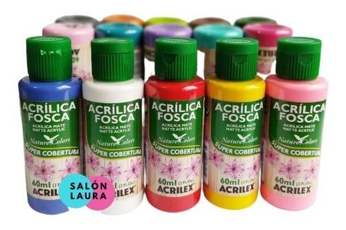 Pintura Acrílica Acrilex 60ml Pack De 6 Unidades