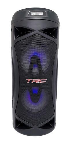 Caixa De Som Bluetooth Amplificada Trc 5507 70w Rádio Fm Usb