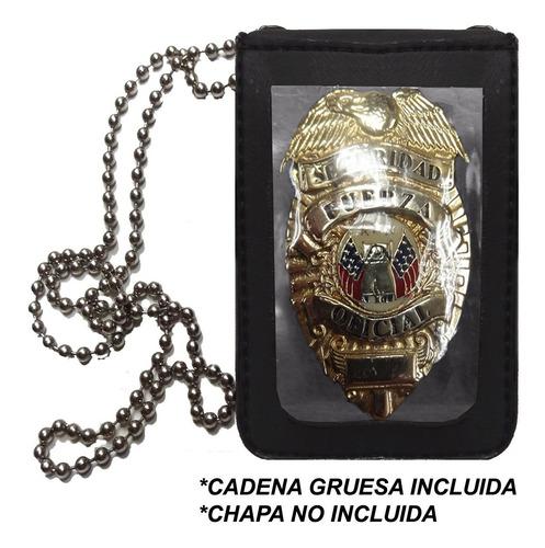 Porta Credencial / Carnet- Colgante / Cintura- Cadena Gruesa