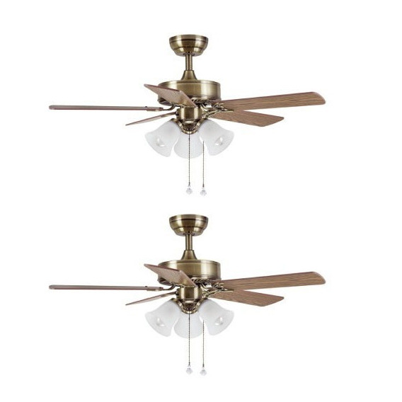 Ventilador Techo Luz Airmax Mod 8639 Pack Por 2 Unid