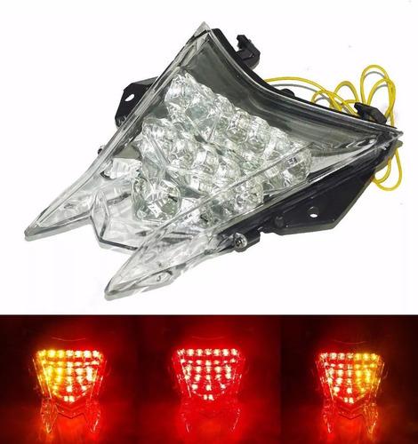 Lanterna Traseira Led Cristal Bmw S1000rr Com Pisca Seta Top