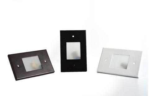 Luminária Balizador Led Embutir Parede Escada C/ Lâmpada 4x2