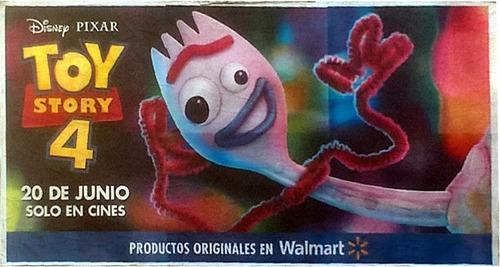 Afiche Original Gigante Toy Story 4 - Modelo Forky
