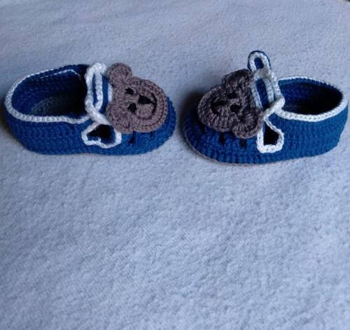 Sandálinhas Baby Crochê Ursinho