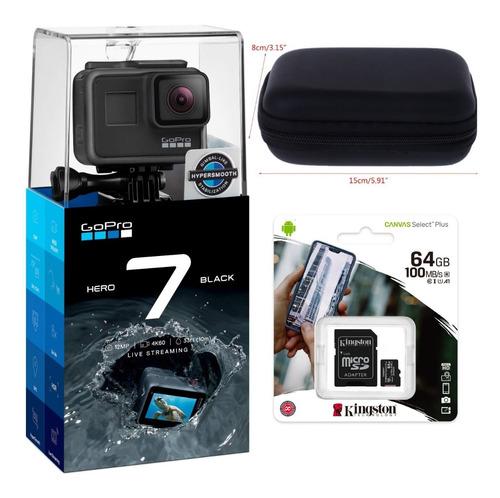 Câmera Hero 7 Black À Prova Dágua4k + Microsd Canvas 64gb