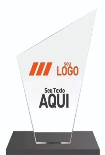30 Troféus Personalizados Em Acrílico Impressão Carimbos