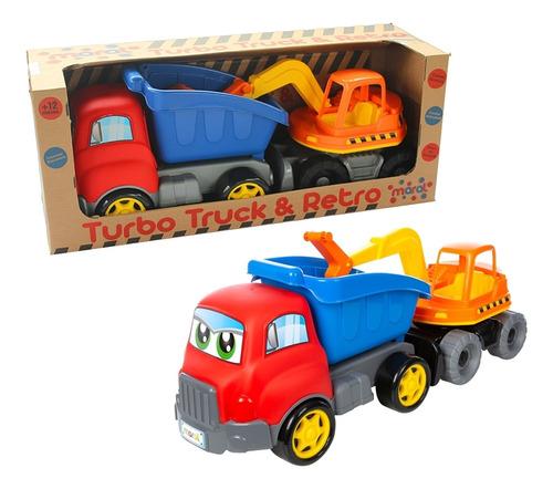 Caminhão De Brinquedo Escavadeira Maral Turbo Truck Retro
