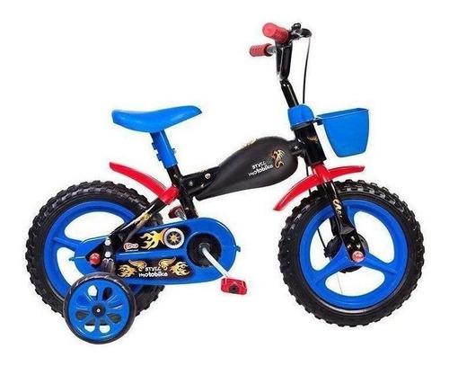 Bicicleta  Infantil Styll Baby Motobike Aro 12 Cor Preto/azul/vermelho