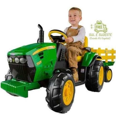 Mini Trator Eletrico Infantil John Deere Ground Force 12v
