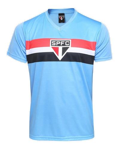 Camisa Sao Paulo Colecao Tricolor Paulista Azul Campeao