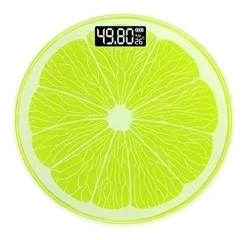 Balanza Digital De Baño Diseño Limón 180 Kg De Vidrio