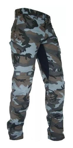 Calça Jeans Com Proteção Motociclista Hlx Defender Camuflada