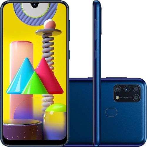 Smartphone Samsung Galaxy M31 Tela 6.4 128gb 6gb Ram - Azul