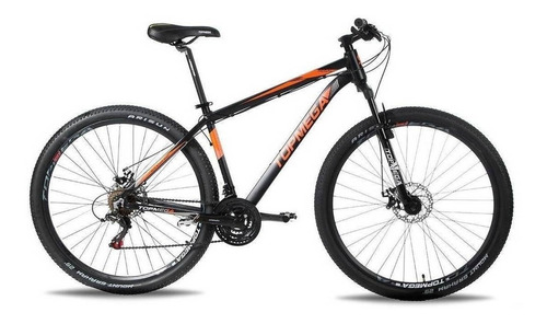 Mountain Bike Topmega Regal R29 M 21v Frenos De Disco Mecánico Cambios Shimano Tourney Color Naranja