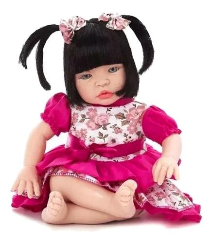 Boneca Bebe Reborn Linda Morena Completa