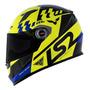 Capacete Moto Fechado Ls2 Ff358 Podium Amarelo/preto/azul