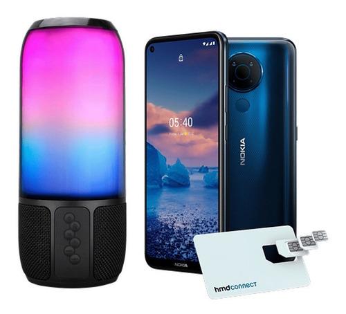 Smartphone Nokia 5.4 128gb Azul + Caixa De Som Speaker Flash