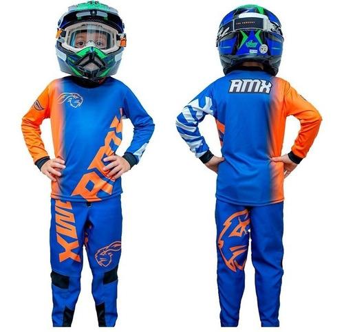 Conjunto Calça E Camisa Infantil Xtreme Amx Motocross
