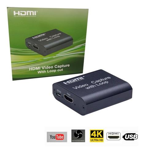 Capturadora De Video Con Loop Profesional Original Uhd 4k