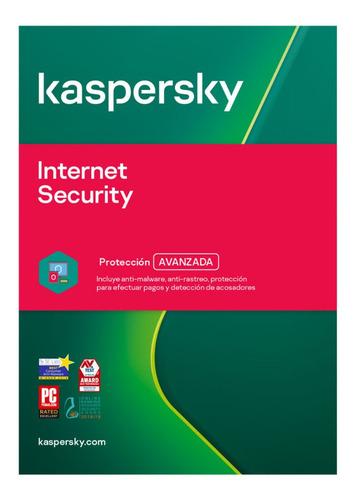 Licencia Internet Security Kaspersky 5 Dispositivos 1 Año