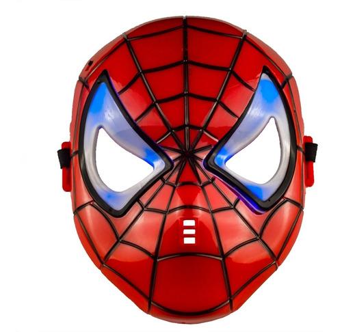 Máscara Homem Aranha Led Divertida Infantil Pronta Entrega