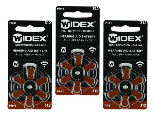 18 Pilas Para Audífono #312. Widex Pr 41 1.4 V
