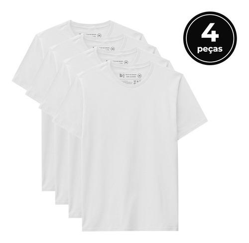Kit 4 Camisetas Masculino  - Basicamente By Malwee