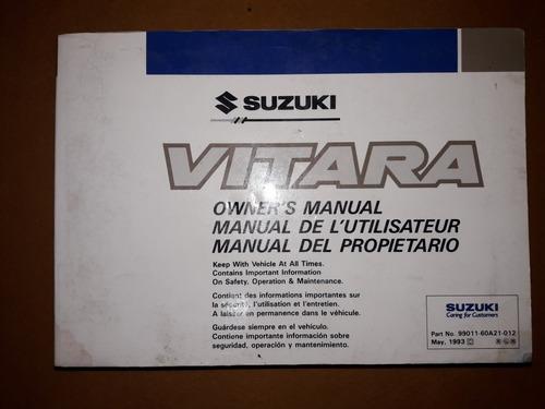 Manual Usuario Suzuki Vitara Linea Vieja