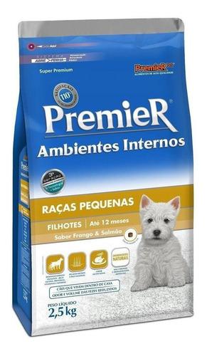 Alimento Premier Super Premium Ambientes Internos Para Cachorro Filhote De Raça Pequena Sabor Frango/salmão Em Saco De 2.5kg