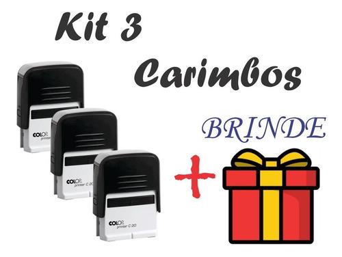 Kit 3 Carimbos Automáticos -personalize Como Quiser + Brinde