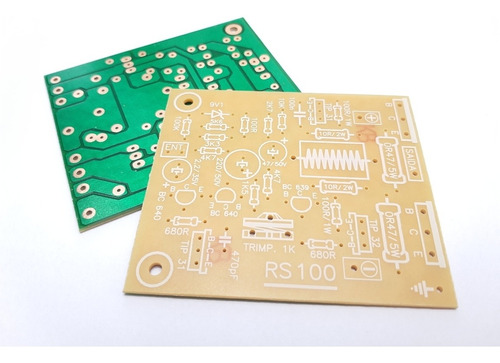 Kit 05 Placas Lisas Amplificador 100w