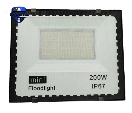 Mini Refletor Holofote Led 200w Smd Branco Frio Bivolt Ip67