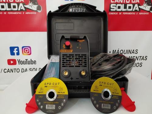 Inversora Mini Evo-220c + Disco Corte + 1k Eletrodo 2,5 Usad