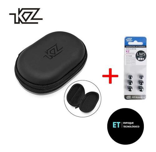 Accesorios Audífonos In Ear Kz Estuche + Espumas Memory Foam
