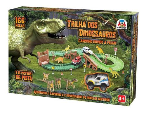 Trilha Maluca Dos Dinossauros 166 Blocos De Montar  Braskit