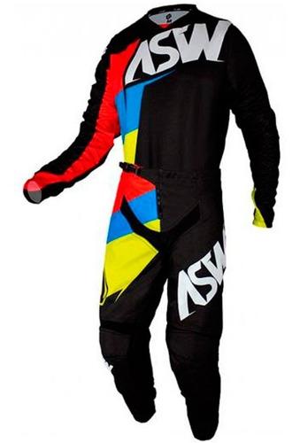 Kit Roupa Trilha Motocross Asw Image Force 2021 Preto
