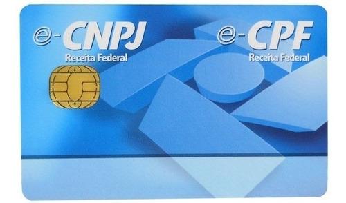 Cartão Smart Card Token Certificado Digital A3 Cpf Ou Cnpj