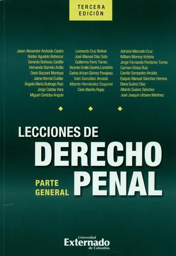 Libro Lecciones De Derecho Penal (3ª Ed) Parte General