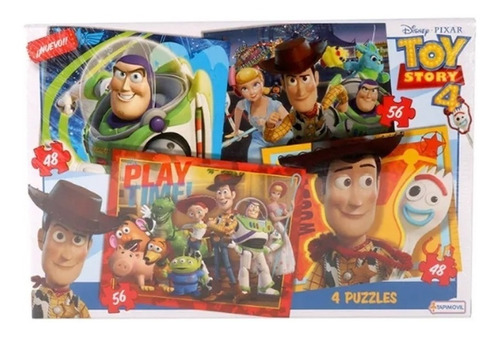 Puzzles X 4 48 Y 56 Piezas Toy Story 4 Tapimovil