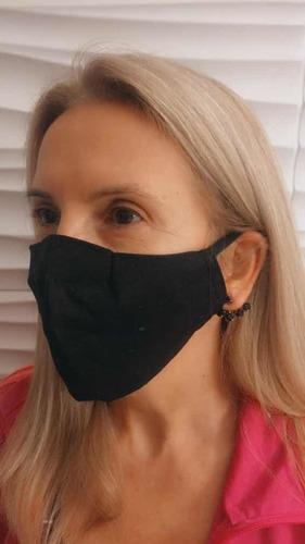 100 Máscaras Dupla Tecido Algodão Lavável - Não Descartav